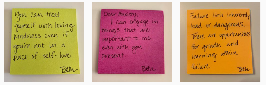 Screenshot of life_without_anxiety, which is an Instagram page run by Beth Brawley